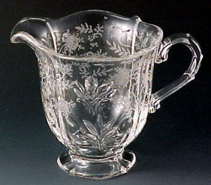 Fostoria Chintz etched elegant glass large creamer