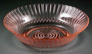 MacBeth Evans Petalware Pink Depression Glass Cereal Bowl