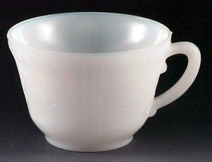 MacBeth Evans American Sweetheart Monax White Depression Glass Cup