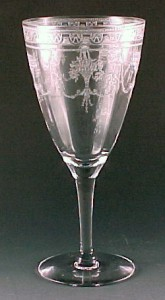 Cambridge Etch 701 Goblet - Basket and Swag