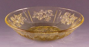 Federal Glass Sharon Amber Depression 5 inch Berry Bowl