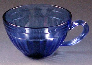 Hazel Atlas Aurora Cobalt Blue Depression Glass Cup