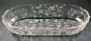 Fostoria Chintz Etched Oval Celery or Relish Tray