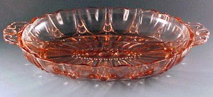 Oyster & Pearl Pink Depression Glass Relish Tray