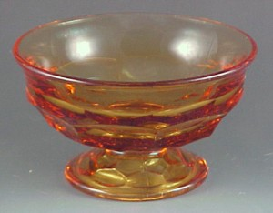 Viking Glass Georgian Honeycomb Gold Amber Sherbet