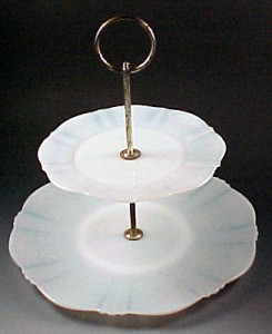 American Sweetheart Monax White Depression Glass Tidbit