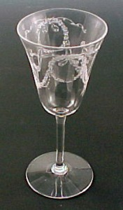 Fostoria Glass Garland Etched Wine Goblet