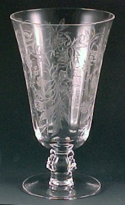 Fostoria Glass Heather Etched Crystal Footed Ice Tea Tumbler