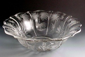 Fostoria Glass Lido Etched Crystal Baroque Bowl