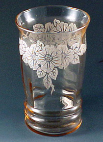 Dogwood Pink Depression Glass Tumbler