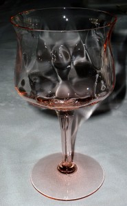 Heisey Glass Gayoso Pink Water Goblet