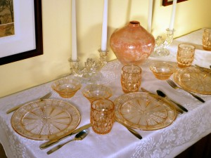 Three Place Settings with Navarre Crystal