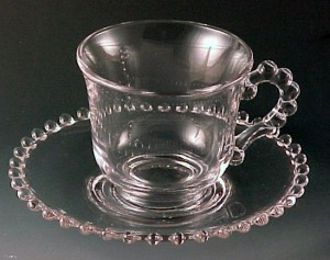 Candlewick Crystal Cup & Saucer from Imperial Glass