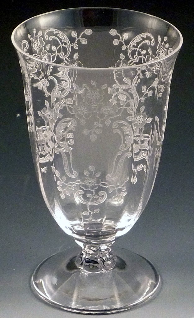 Fostoria Glass Meadow Rose Etched Crystal Tumbler
