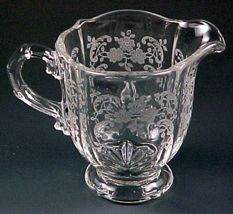 Fostoria Glass Meadow Rose Etched Crystal Creamer