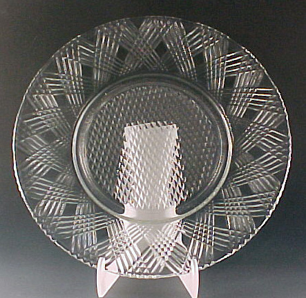 Starlight Crystal Depression Glass Lunch Plate