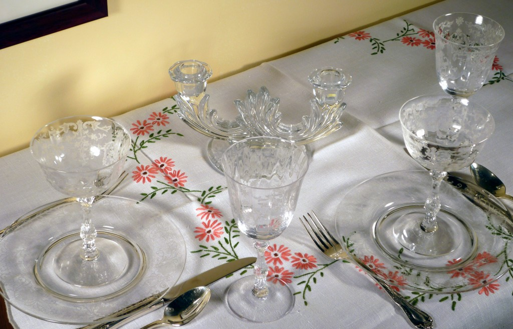 Fostoria Navarre Etched Crystal Place Setting