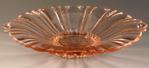 Old Cafe Pink Depression Glass Candy Dish