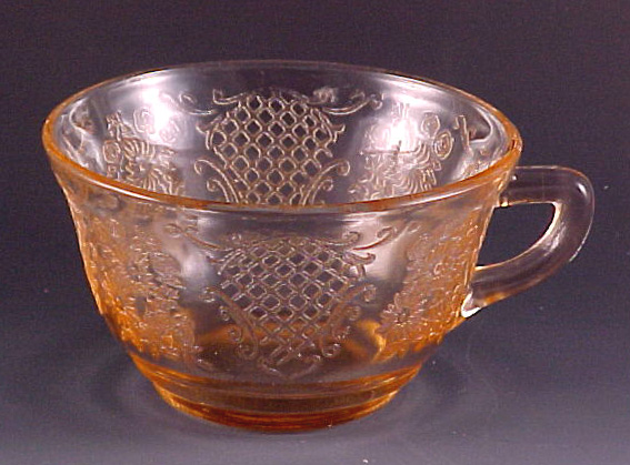 Normandie Pink Depression Glass Cup