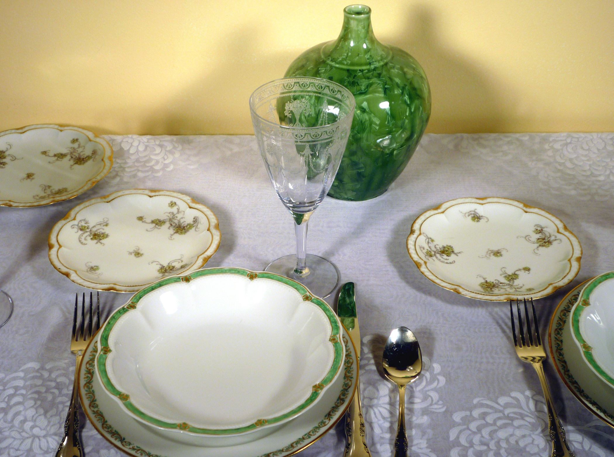 Haviland Limoges Green Themed China