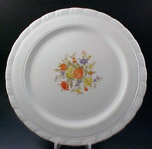 Chinex Oxford Bouquet Cake Plate Depression Glass