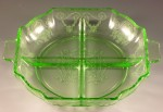 Lorain Depression Glass – Beautiful Basket Pattern in Green and Yellow from Indiana
