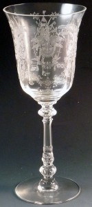 Heisey Glass Orchid Etched Goblet – When Vintage is Best