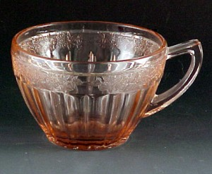 Adam Pink Depression Glass Cup