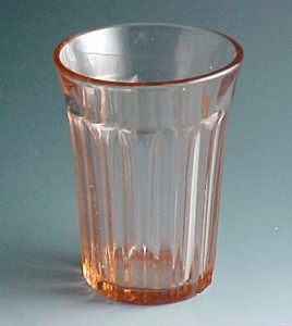 Fortune Pink Depression Glass Tumbler