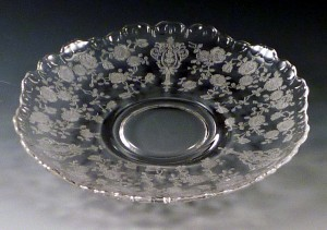 Cambridge Glass Rose Point Etched Crystal Gadroon 3500 Saucer