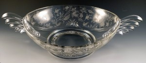 Fostoria Etched Console Sets – Bowls and Candle Holders