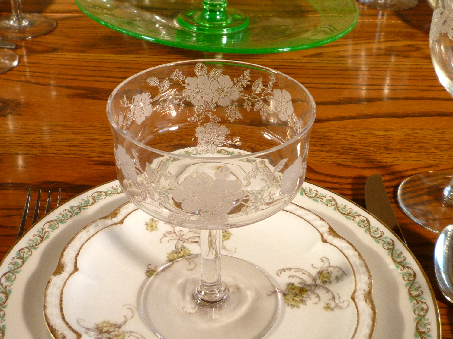 Haviland Limoges China Dinnerware Monongah Etched Crystal