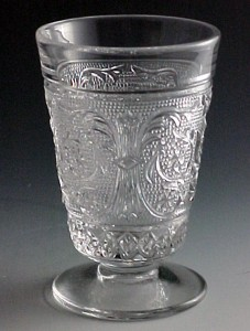 Duncan Miller Glass Sandwich Footed Juice Tumbler