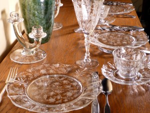 Fostoria Chintz Etched Crystal for Christmas Splendor