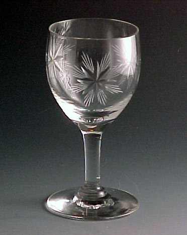 Fostoria Glass Large Star Cut Crystal Sherry
