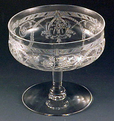 Heisey Glass Dutchess Etched Crystal Sherbet