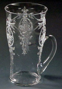 Tiffin Glass Adam Etched Crystal Handled Tumbler