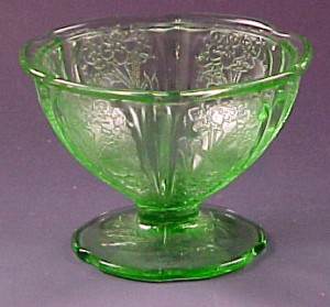 Cherry Blossom Depression Glass – Wearing the Green for Pink Saturday