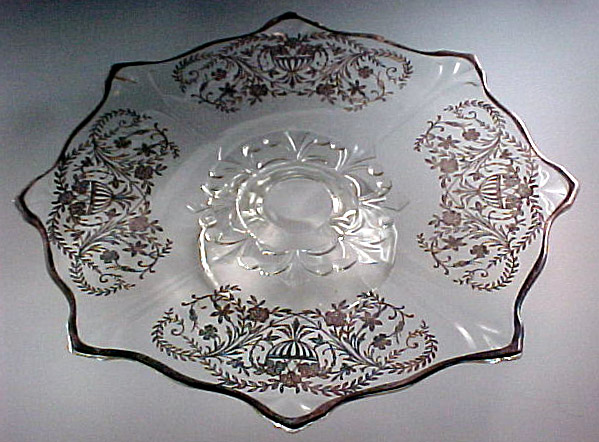 Silver Baskets Double Fleur De Lis Footed Cake Plate