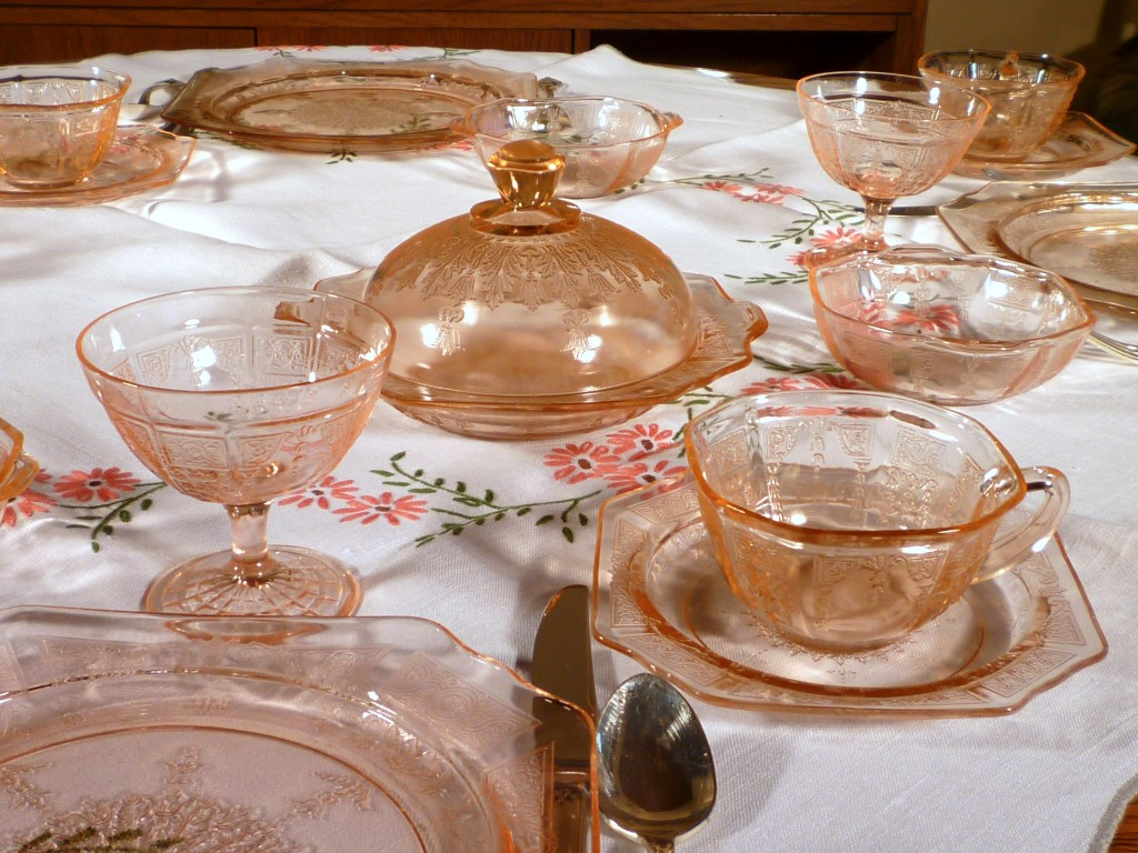 Princess Pink Depression Glass Table