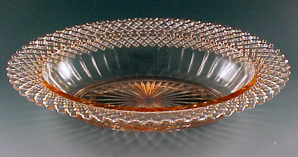 Miss America Pink Depression Glass Oval Bowl