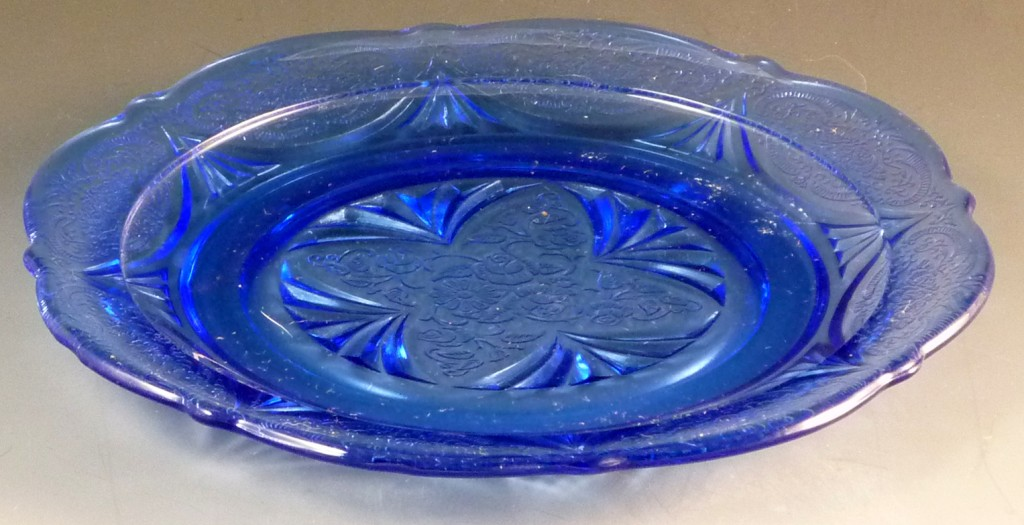 Royal Lace Blue Depression Glass Plate