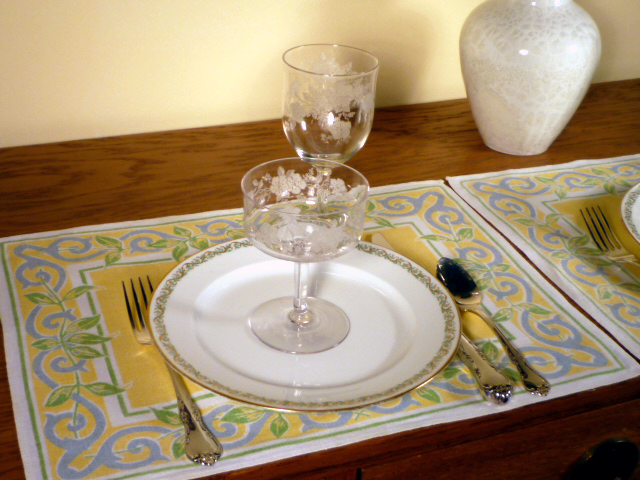 Monongah Etched Crystal and Limoges Dinnerware