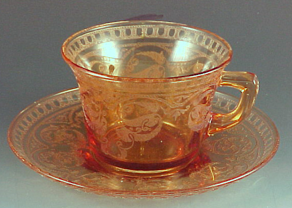 Cambridge Windows Border Amber Cup & Saucer