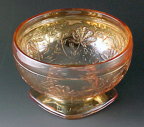 Floragold Louisa Iridescent Depression Glass Sherbet