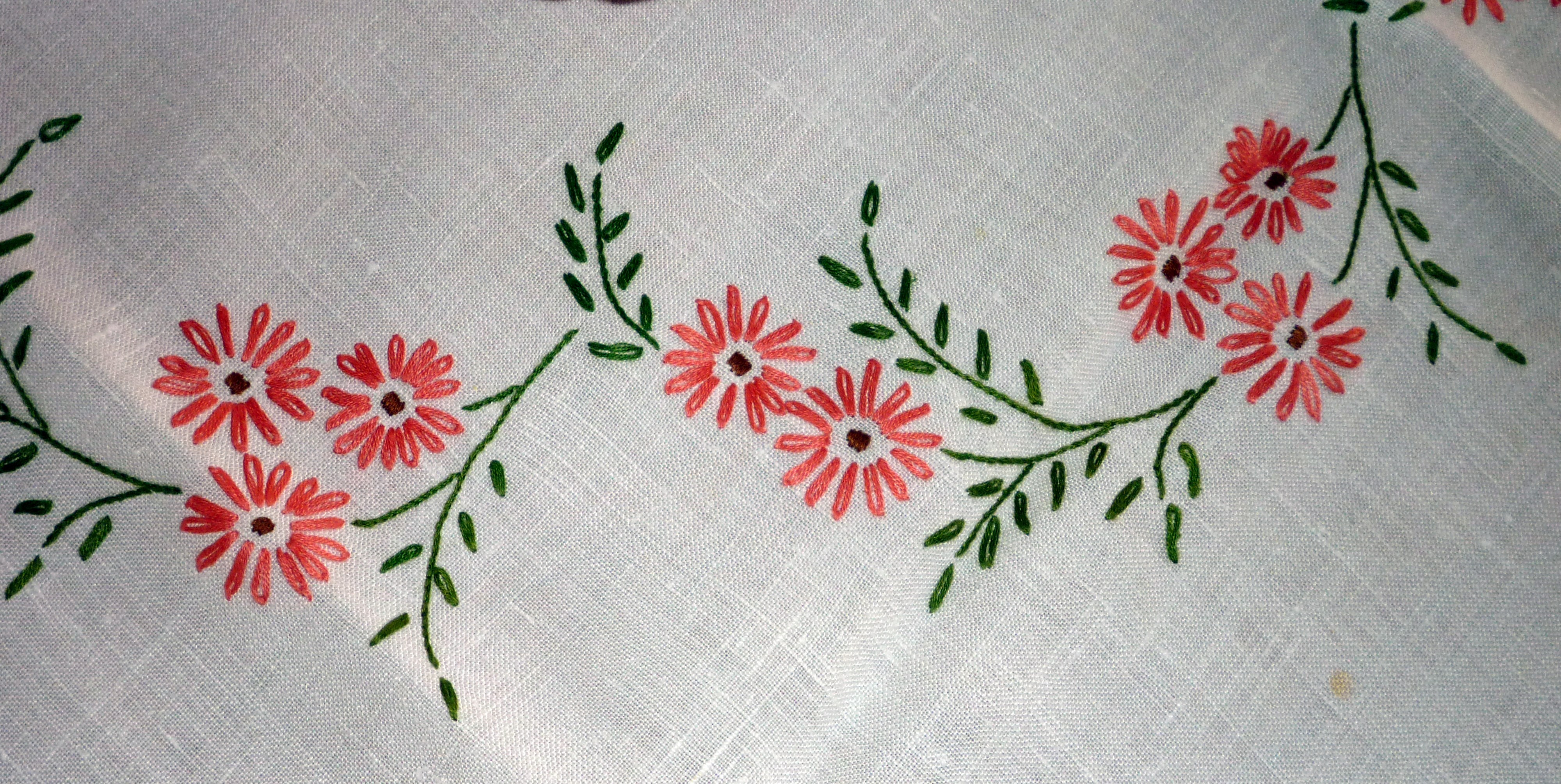 Table cover embroidery designs - Mom S Embroidered Tablecloth