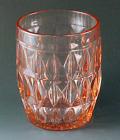 Windsor Pink Depression Glass Juice Tumbler