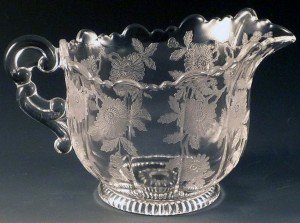 Cambridge Blossom Time Etched Crystal Creamer