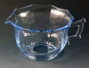 Cambridge Glass Decagon Blue Cup