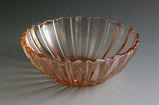 Fortune Pink Depression Glass Bowl
